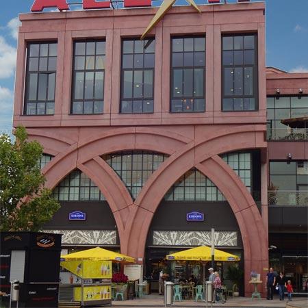 Aussenansicht Alexa Einkaufszentrum