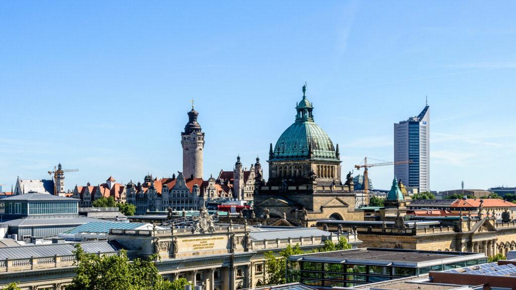 Leipzig Ansicht auf die Innenstadt