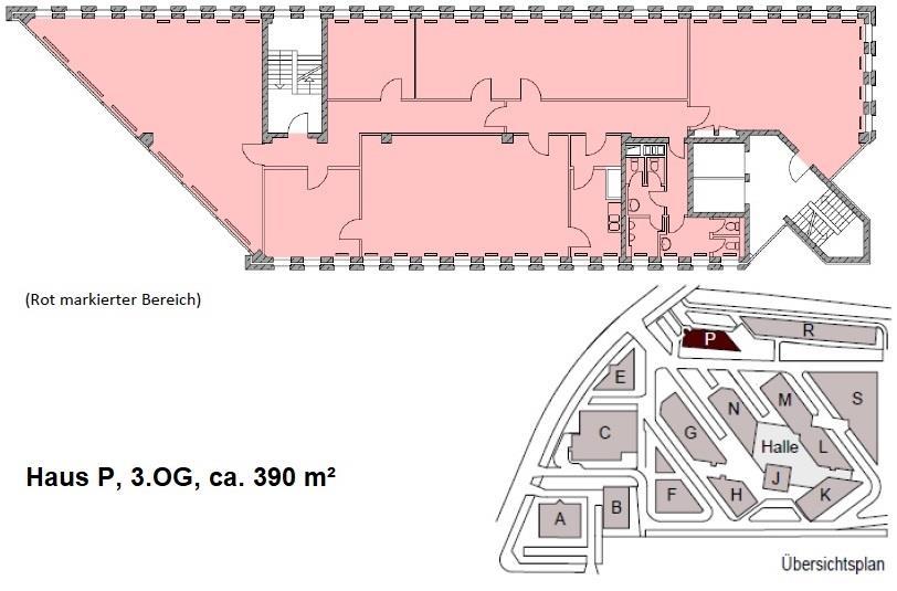 Haus P, 3.OG, ca. 390 m²