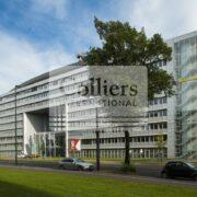 Büroflächen im GLOBAL GATE: hauseigene Tiefgarage, repräsentativer Eingangsbereich, Hohlraumboden