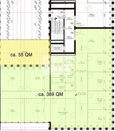 Mögliche Raumaufteilung - 2. OG
