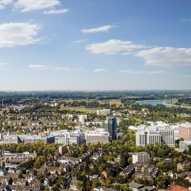 Linke Rheinseite Duesseldorf