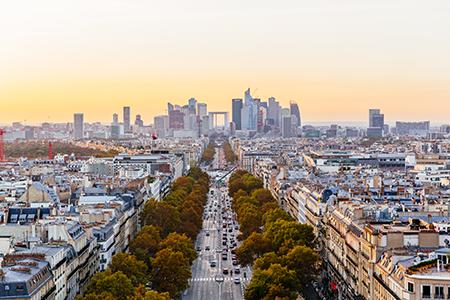 La Defense District At Sunset, Paris, France