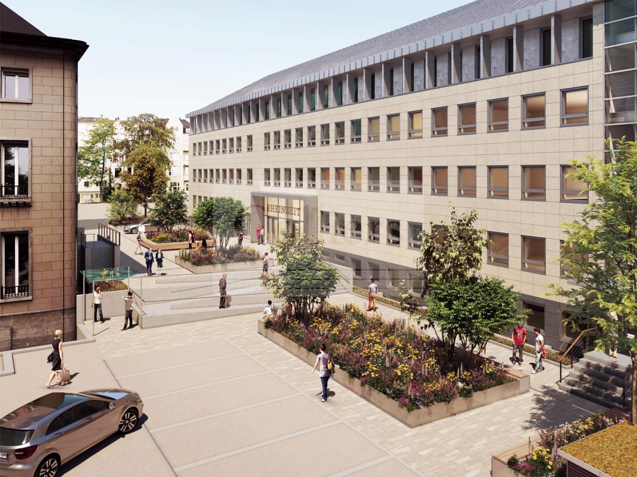 Visualisierung Haus C - Hof